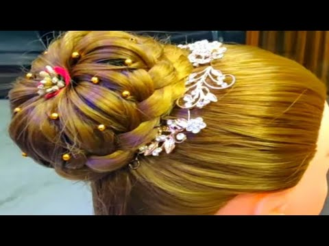 Hairstyles for long hair - Easy bridal hairstyle/party hairstyle/bun hairstyle for long hair/girls hairstyles