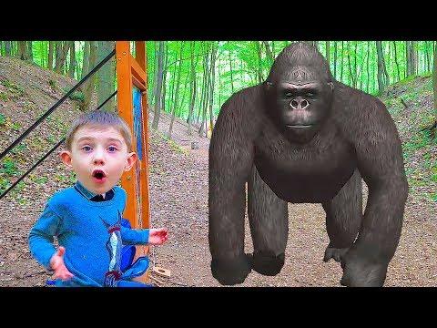 Baby and Monkey Johny Johny Yes Papa song for kids