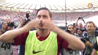 An emotional day. An unforgettable career. Grazie Francesco Totti.Subscribe to AS Roma on YouTube: http://bit.ly/ASRoma_Welcome to the official Youtube channel of AS Roma.Roma Network is the destination for Giallorossi, lifestyle and entertainment. Il canale ufficiale Youtube dell'AS Roma.Roma Network è il mondo dell'intrattenimento e del lifestyle per i tifosi giallorossi di tutto il mondo.Facebook: https://www.facebook.com/officialasromaGoogle+: https://plus.google.com/u/1/+asroma/Instagram: https://instagram.com/officialasroma/Twitter: https://twitter.com/OfficialASRoma