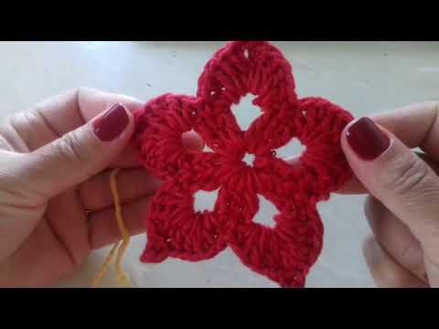*Passo a Passo* Flor em Crochê Para Aplique Com Cristina Coelho Alves