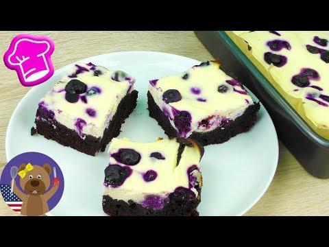 Blueberry Cheesecake Brownies | Cheesecake + Brownie Recipe | Mega-Mix Desert