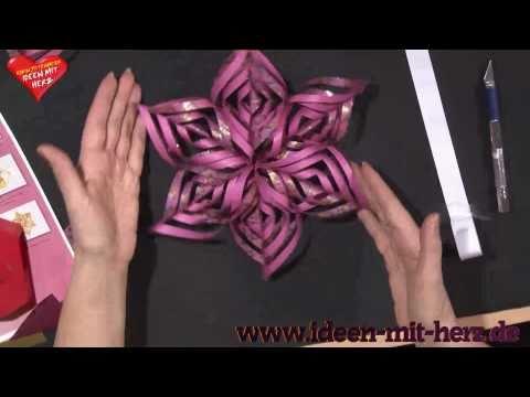 Ideen mit Herz - Origami Stern - Ornamentstern