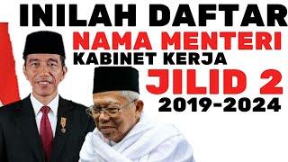 Video INILAH NAMA MENTERI KABINET JOKOWI MA'RUF AMIN 2019-2024 DI SOSIAL MEDIA MP3, 3GP, MP4, WEBM, AVI, FLV Juli 2019