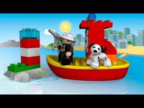 пожарная лодка лего дупло