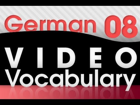 Learn German – Video Vocabulary #8