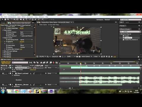 Dutch After Effects Tutorial  Twixtor Syncen