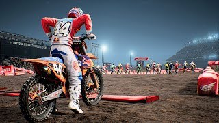 Monster Energy Supercross - KTM 250 SX-F - Test Ride Gameplay (PC HD) [1080p60FPS]