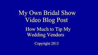 How Much to Tip Wedding Vendors? [video]