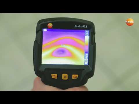 Строительная термография с тепловизором testo 872