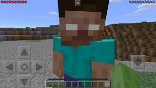 I FOUND HEROBRINE in Minecraft Pocket Edition (How To Spawn Herobrine with Mods)