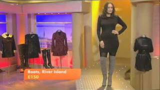 Thigh High Boots Fashion On GMTV - YouTube.flv
