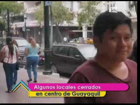 Manifestaciones afecta el comercio de Guayaquil