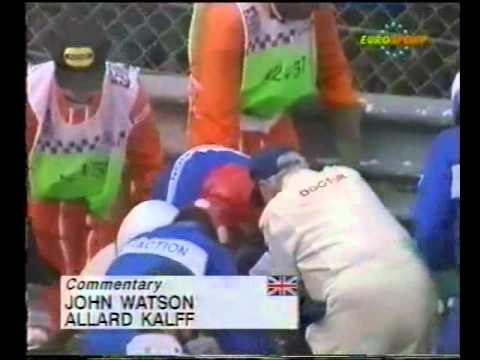 Alex Zanardi (Lotus 107B) practice crash report – 1993 Belgian Grand Prix