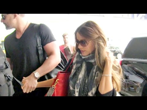 Sofia Vergara And Joe Manganiello Hold Hands Jetting Out Of LAX After The Emmys