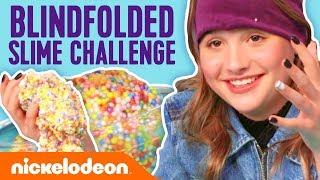 Annie LeBlanc Blindfolded SLIME Challenge | Nick