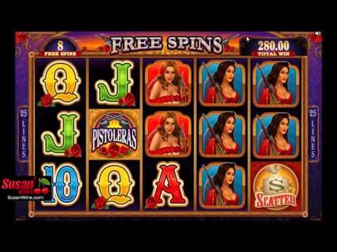 Mind-blowing £721 Win - Free Games Bonus - Pistoleras Online Slots Review