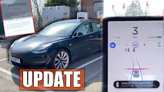 Autopilot stops for traffic lights & stop signs | Tesla Service appointment during Covid-19 Lockdown by Pokemon Cards