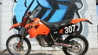 4. 2002 KTM 450 MXC Dual Sport Motorcycle For Sale