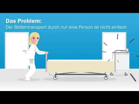 Klinikbett mit Transport-Plus