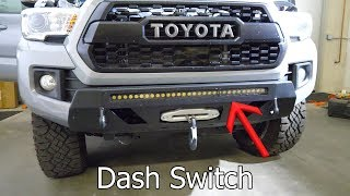 5. LED Light Bar install + Dashboard switches on 2018 Toyota Tacoma