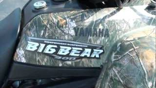 10. 2008 YAMAHA BIG BEAR 400 4X4  ATV FOR SALE SEE WWW SUNSETMILAN COM