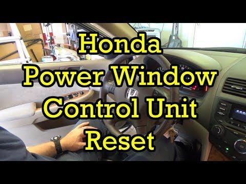 Honda Power Window Control Unit Reset