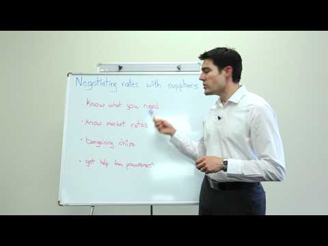 Negotiating Rates With Suppliers Video
