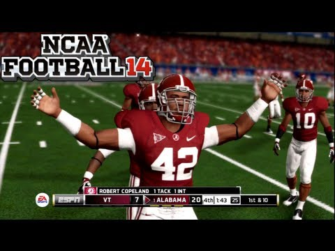 NCAA Football 14 Gameplay (Demo) - Alabama vs Virginia Tech - Gameplay Impressions w/Live Commentary