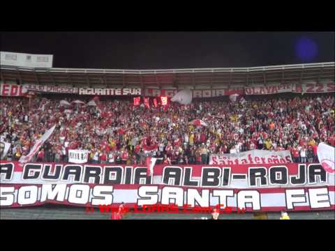 LA GUARDIA PTE - IND SANTA FE Vs Atlético Nacional - Semifinales Apertura 2014 - - La Guardia Albi Roja Sur - Independiente Santa Fe