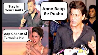 Video Bollywood Actors Dirty FIGHTS With Media - Shahrukh Khan, Salman Khan, Deepika Padukone MP3, 3GP, MP4, WEBM, AVI, FLV Desember 2018