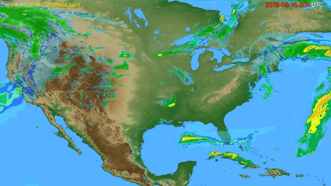 Radar forecast USA & Canada // modelrun: 12h UTC 2019-05-14