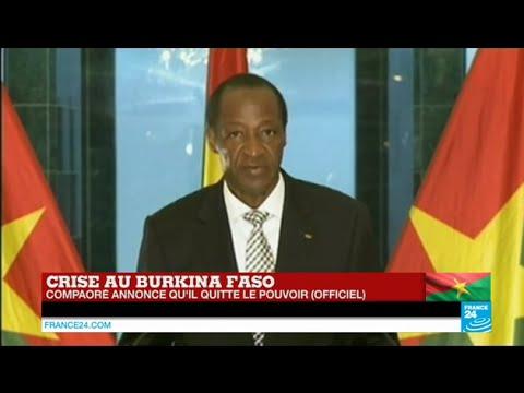 il - Abonnez-vous à notre chaîne sur YouTube : http://f24.my/youtube URGENT - Blaise Compaoré annonce qu'il quitte le pouvoir selon un communiqué officiel. Notre site : http://www.france24.com/fr/...