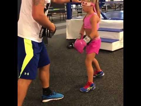 Тренировка юной спортсменки