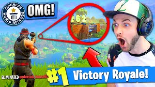 Video *NEW* RECORD BREAKING SNIPE in Fortnite: Battle Royale! MP3, 3GP, MP4, WEBM, AVI, FLV Agustus 2018