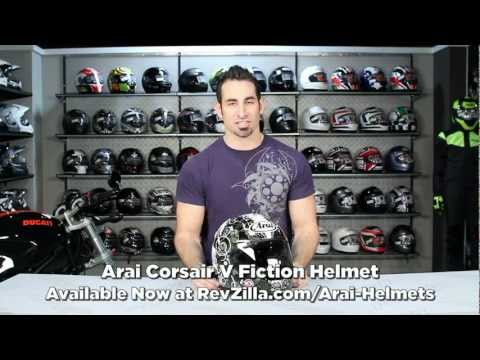 arai corsair v race carbon - Arai Corsair V Fiction Helmet Review http://www.revzilla.com/motorcycle/arai-corsair-v-fiction-helmet?utm_source=youtube.com&utm_medium=description&utm_campa...