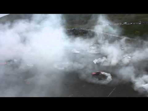 Guinness World record donut attempt at Infineon raceway 3.20.12 Sonoma Drift