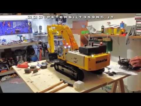 VirtualMakerLuca - Model in 1:14 scale Completely hand-built, designed in CAD ​​3D! Hydraulic movements to 25 bar. First test sound module with no track movement .... being imp...
