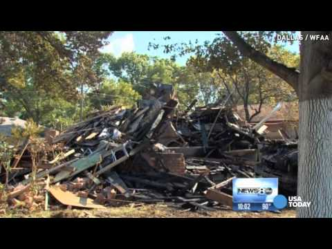 explosion - It's a miracle no one was hurt when this Dallas home exploded Tuesday. A neighbor captured the raging inferno on camera. Everything was destroyed.