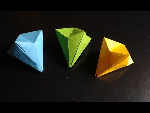 Как сделать бриллиант оригами видео