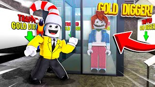 GOLD DIGGER Trapped In ABANDONED Factory.. (Roblox)