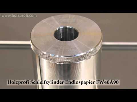 Schleifwalzen, Schleifzylinder, Schleifigel zum Schleifen mit Endlospapier von Holzprofi FW40