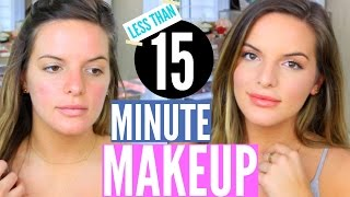 QUICK & EASY Drugstore Makeup Tutorial! Less Than 15 Minutes (Literally)   Casey Holmes by Casey Holmes