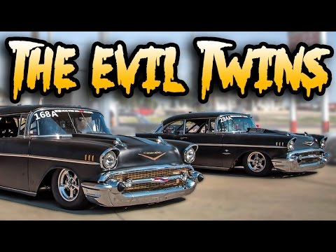 6,000hp of Twin Turbo '57 Chevys - THE EVIL TWINS