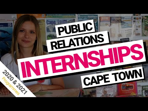Public Relations internships Cape Town, South Africa (2018 & 2019)