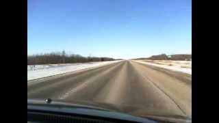 Timelapse driving from Winnipeg to The Pas