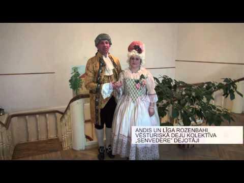 """Vēsturisko deju kolektīvs """"Senvedere"""" savu 1 gada jubileju atzīmē Lielplatones muižā"""