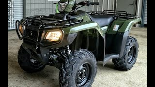 10. 2016 Honda Rubicon 500 ATV Walk-Around Video | TRX500FM5G FourTrax Foreman 4x4 Four Wheeler