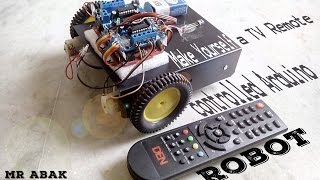 Hello guys. Abhay and Akshay here! Today we are going to make a TV remote controlled Robot that not only works like a charm but you can also upgrade it by ed...