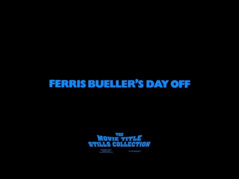 Ferris Bueller's Day Off (1986) title sequence + end credits