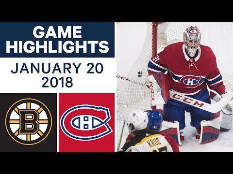 Video: NHL game in 4 minutes: Bruins vs. Canadiens